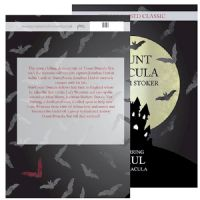 Dracula Novel Book - Personalise with a name for the main Count Dracula Character - ideal gift for Birthday, Halloween, Him